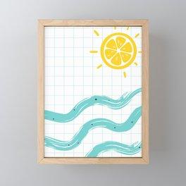 Summer Time Art Framed Mini Art Print
