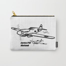 Curtiss P40 Warhawk line drawing Carry-All Pouch