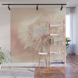 Pink Dandelion Flower - Floral Nature Photography Art and Accessories Wall Mural