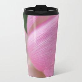 Pink Flower Metal Travel Mug