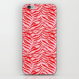 Tiger Print - Red and Pink iPhone Skin
