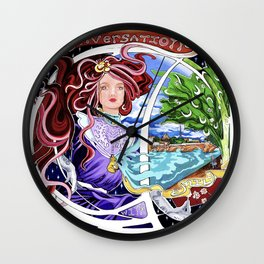 Conversations with Emily: LP Cover Art Wall Clock