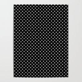 Stars (White/Black) Poster