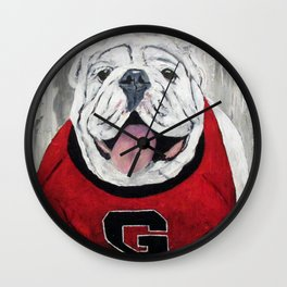 UGA Bulldog Wall Clock