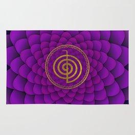 Gold Choku Rei Symbol on lotus Rug