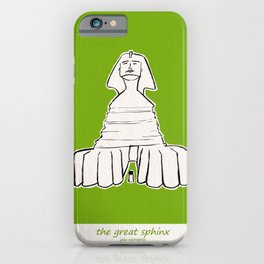 The great sphinx of Giza iPhone Case