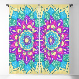Bright and Beautiful Mandala Blackout Curtain