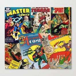 Comics Collage Canvas Print