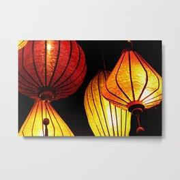 Neon Lanterns Metal Print