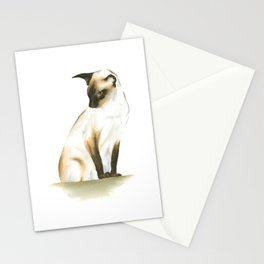 seal point siamese cat 1 Stationery Cards