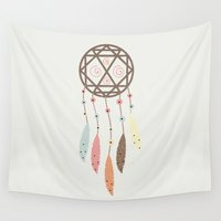 dream catcher Wall Tapestries featuring Dream Catcher by 83 Oranges™