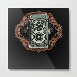 Vintage analogue Camera Metal Print