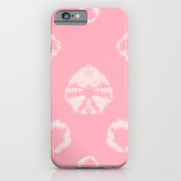 Shibori Uni Pink iPhone Case
