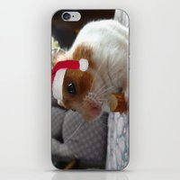 hamster iPhone & iPod Skins featuring Christmas Hamster by VHS Photography