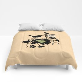 South Carolina - State Papercut Print Comforters