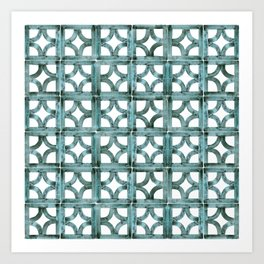 Breeze Block Ocean Art Print