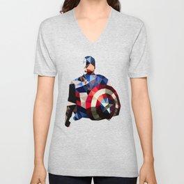 Polygon Heroes - Captain America Unisex V-Neck