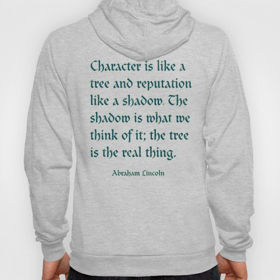 Tree of Character VINTAGE BLUE / Deep thoughts by Abe Lincoln by grandeduc