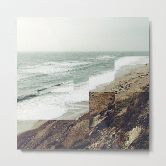 Walks on the beach Metal Print