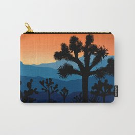 Retro Joshua Tree National Park Desert Hiking Camping Cactus Carry-All Pouch