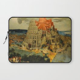 """Pieter Brueghel II (The Younger) """"The Tower of Babel"""" Laptop Sleeve"""