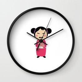 kokeshi doll Wall Clock