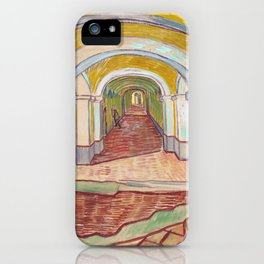 Corridor in the Asylum by Vincent van Gogh, 1889 iPhone Case