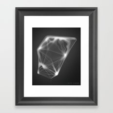Water Diamond Framed Art Print
