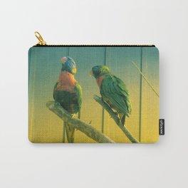 Rainbow Lorikeet Parrot Birdlife Australia Biak Lorikeet Carry-All Pouch