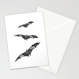 Tangled Bat on White Stationery Cards