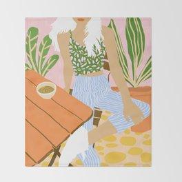 Kawa Tea #illustration #fashion Throw Blanket
