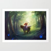 be brave Art Prints featuring Brave by hart-coco