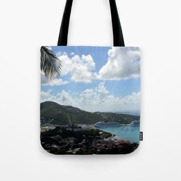 Overlooking the Port at Charlotte Amalie Tote Bag