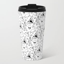 Cryptid Pattern: Ink Lines Travel Mug