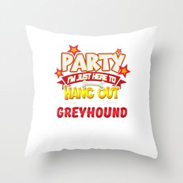 Greyhound Dog Party Throw Pillow