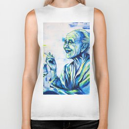 Happy End by carographic, portrait art Biker Tank