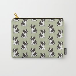 Say hello to the cute double hooded pied French Bulldog Carry-All Pouch