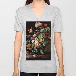 "Rachel Ruysch ""Still-Life with Flowers"" Unisex V-Neck"