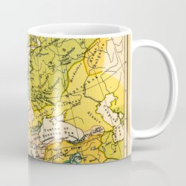 Europe in 1135 - Vintage Map Collection Coffee Mug