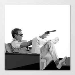 Steve McQueen Vector Canvas Print