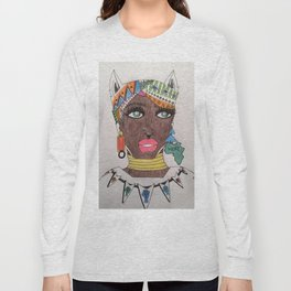 The Black Panther is Female Long Sleeve T-shirt