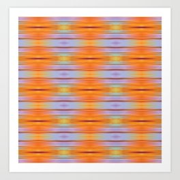 Orange ikat Art Print