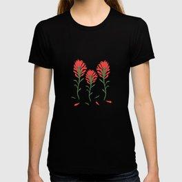 Floral-Indian Paintbrush-Gray T-shirt