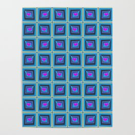Grey Heart Stamps Poster