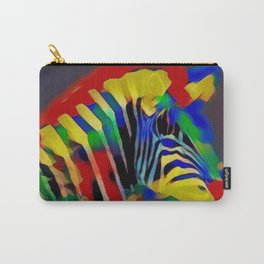 Abstract Rainbow Zebra Carry-All Pouch