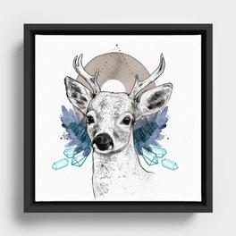 The Deer (Spirit Animal) Framed Canvas