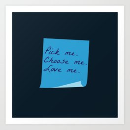 Pick Me. Choose Me. Love Me. (MerDer, Grey's Anatomy) Art Print