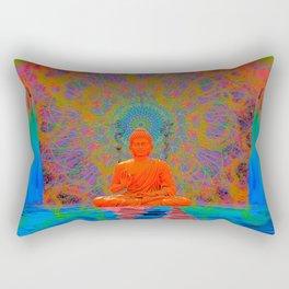 Cool Water Zen (Ultraviolet) (psychedelic, meditation) Rectangular Pillow