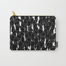 Public assembly B&W inverted / Lineart people pattern Carry-All Pouch