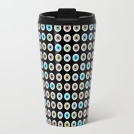 googly eyes pattern Travel Mug